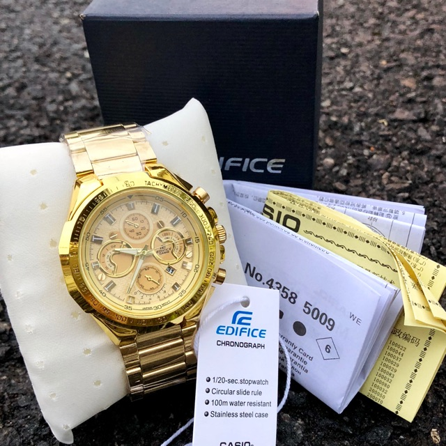 Casio Edifice Jam tangan lelaki Gold (end 6 5 2021 12 00 AM) ef29ace762