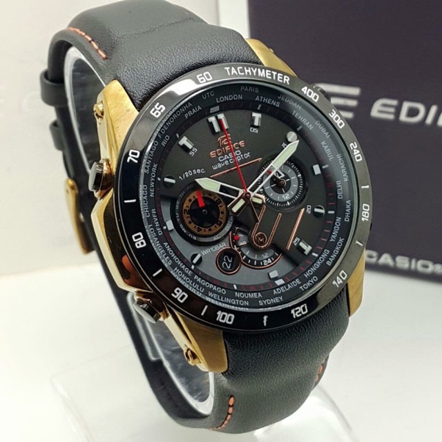 Strap M1000 All Subdial Functioning Edifice Leather Casio qSpGUMzV