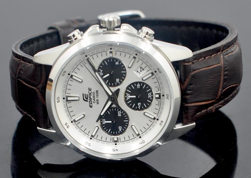 Casio EDIFICE Men Chronograph Leather Strap Watch EFR-527L-7AVUDF. ‹ › 8d494c0c4c8