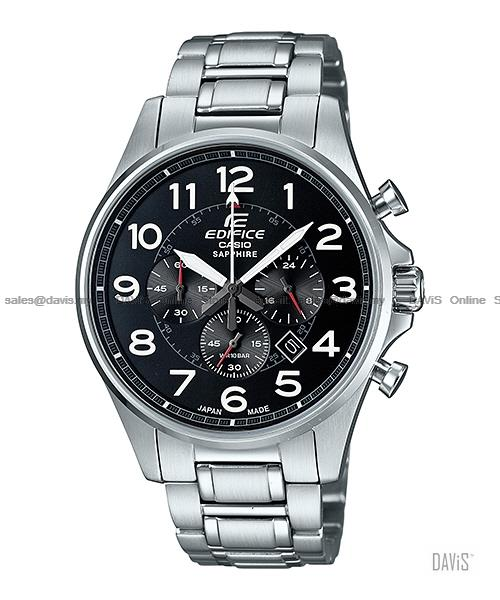 CASIO EFB-508JD-1A EDIFICE chrono sapphire Japan Made bracelet black