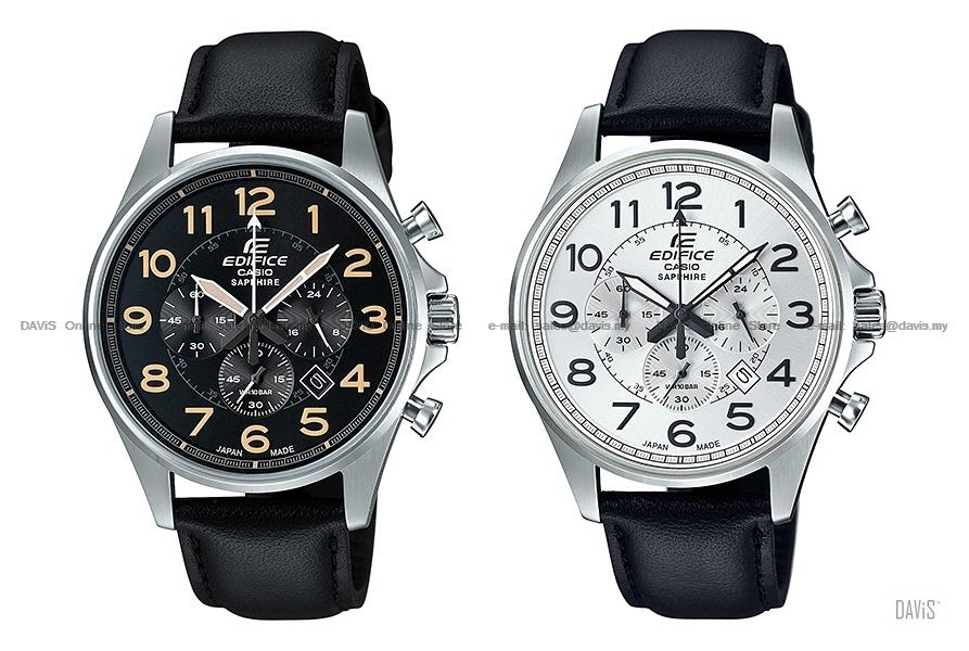 CASIO EFB-508JL EDIFICE chronograph sapphire Made in Japan leather