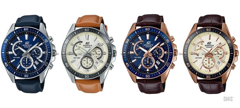 Leather Edifice Chronograph 552gl Casio Efr Retrograde Strap 552l qzMpSUV
