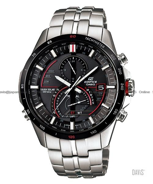 CASIO EQS-A500DB-1AV EDIFICE solar chronograph SS bracelet black