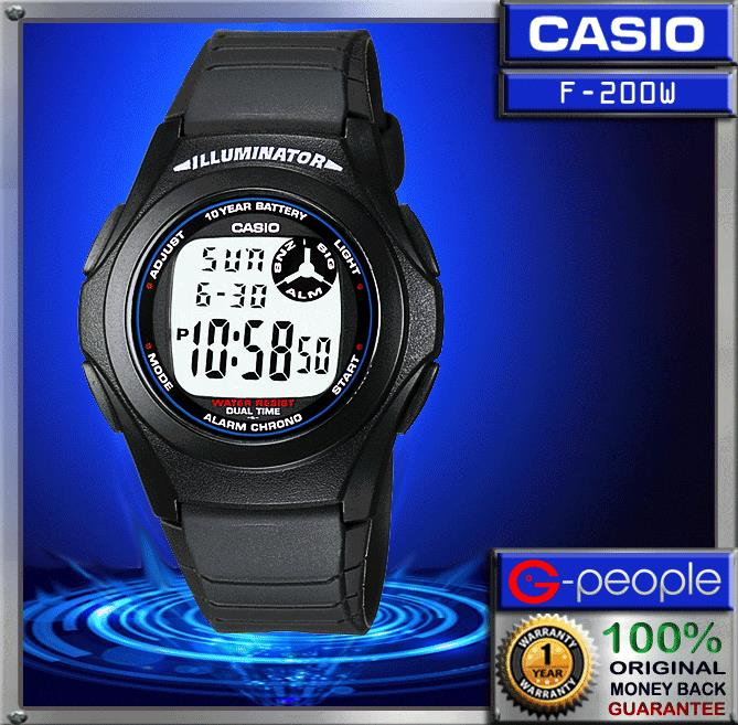 CASIO F-200W-1A DIGITAL WATCH 100% ORIGINAL