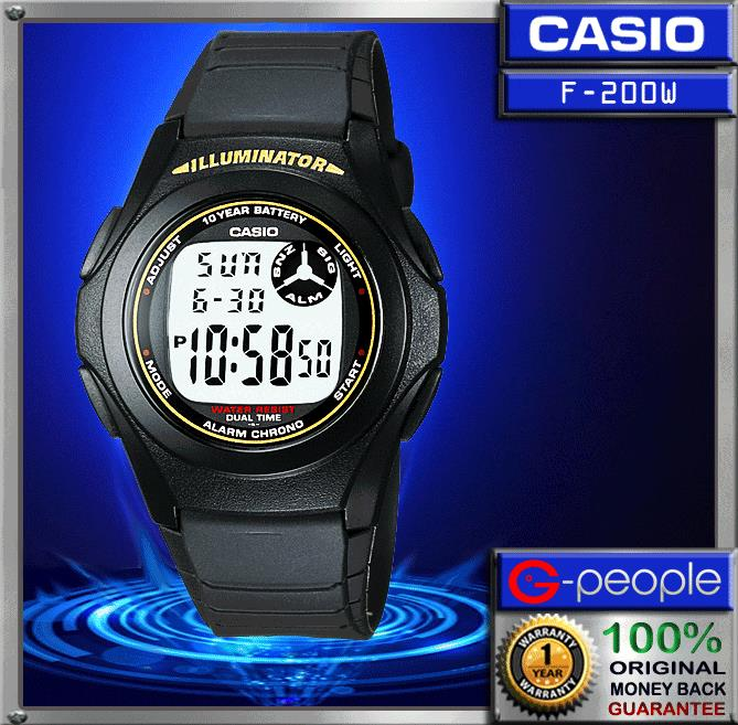 CASIO F-200W-9A DIGITAL WATCH ☑ORIGINAL☑