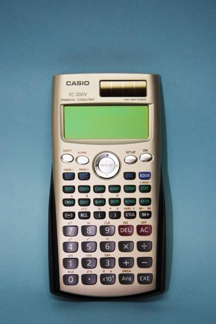 Casio Financial Calculator FcV End   Am