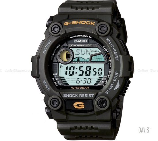 CASIO G-7900-3 G-SHOCK GUNDAM tidegraph largest resin strap dark green