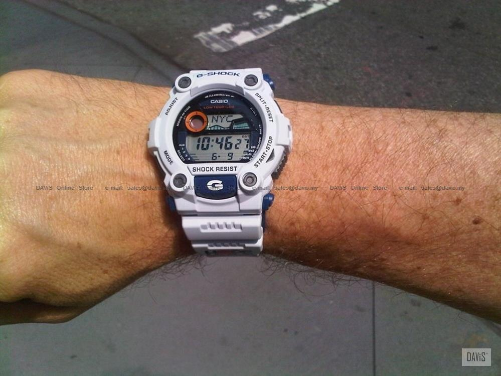 CASIO G-7900A-7 G-SHOCK GUNDAM tidegraph largest resin strap white