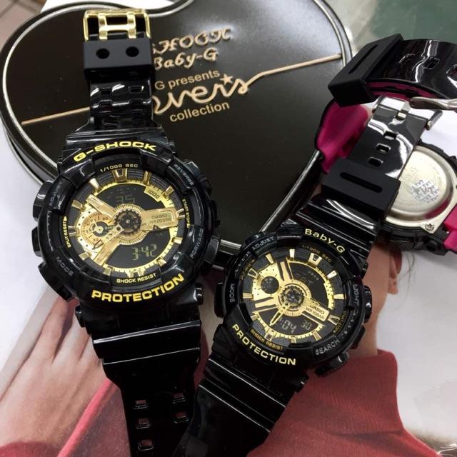 72fe8166e1bbf Casio G shock Couple Set Black Gold (end 6 5 2021 12 00 AM)