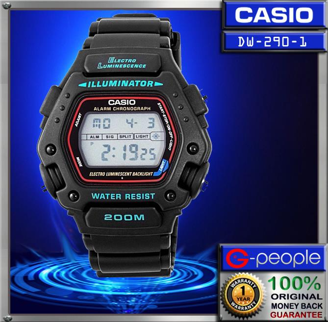 CASIO G-SHOCK DW-290-1V 200M WATCH ☑ORIGINAL☑