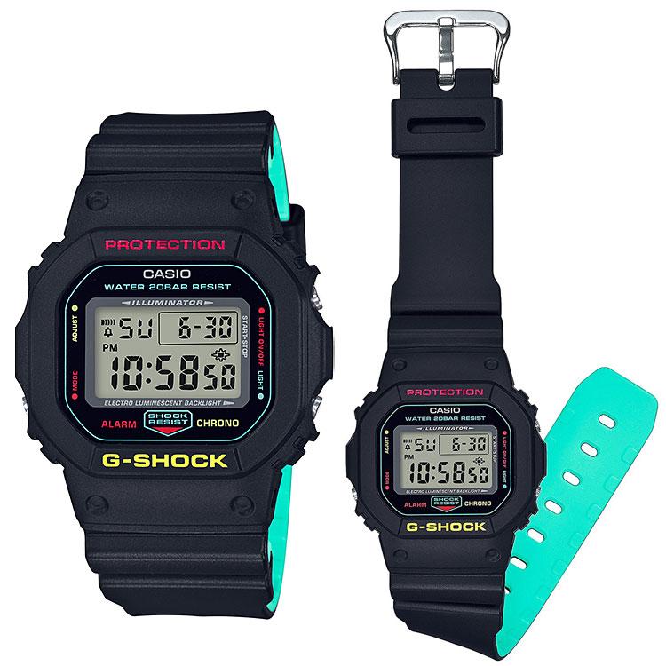 Casio G-Shock DW-5600CMB-1 Digital Breezy Rasta Color Shock Jam Tangan e5a96fc36f