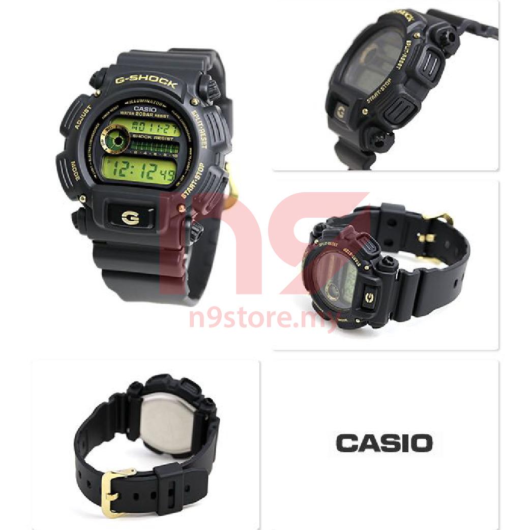 Casio G-Shock DW-9052GBX-1A9 Digital Men Gold Accent Design Jam Tangan 908e54885f
