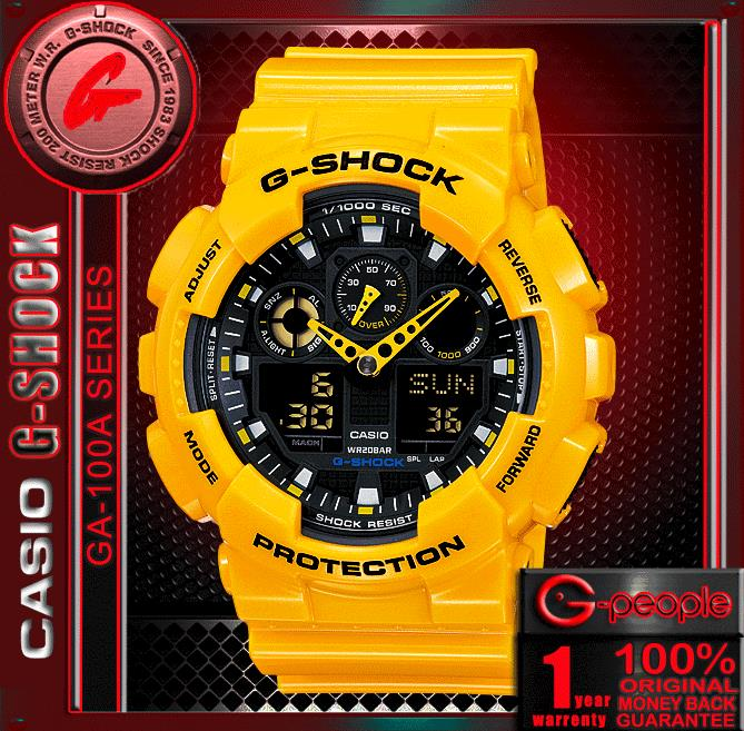 CASIO G-SHOCK GA-100A-9A  WATCH 100% ORIGINAL