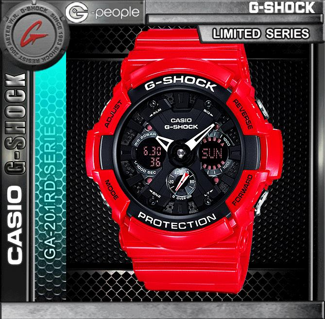 CASIO G-SHOCK GA-201RD-4A WATCH ☑ORIGINAL☑
