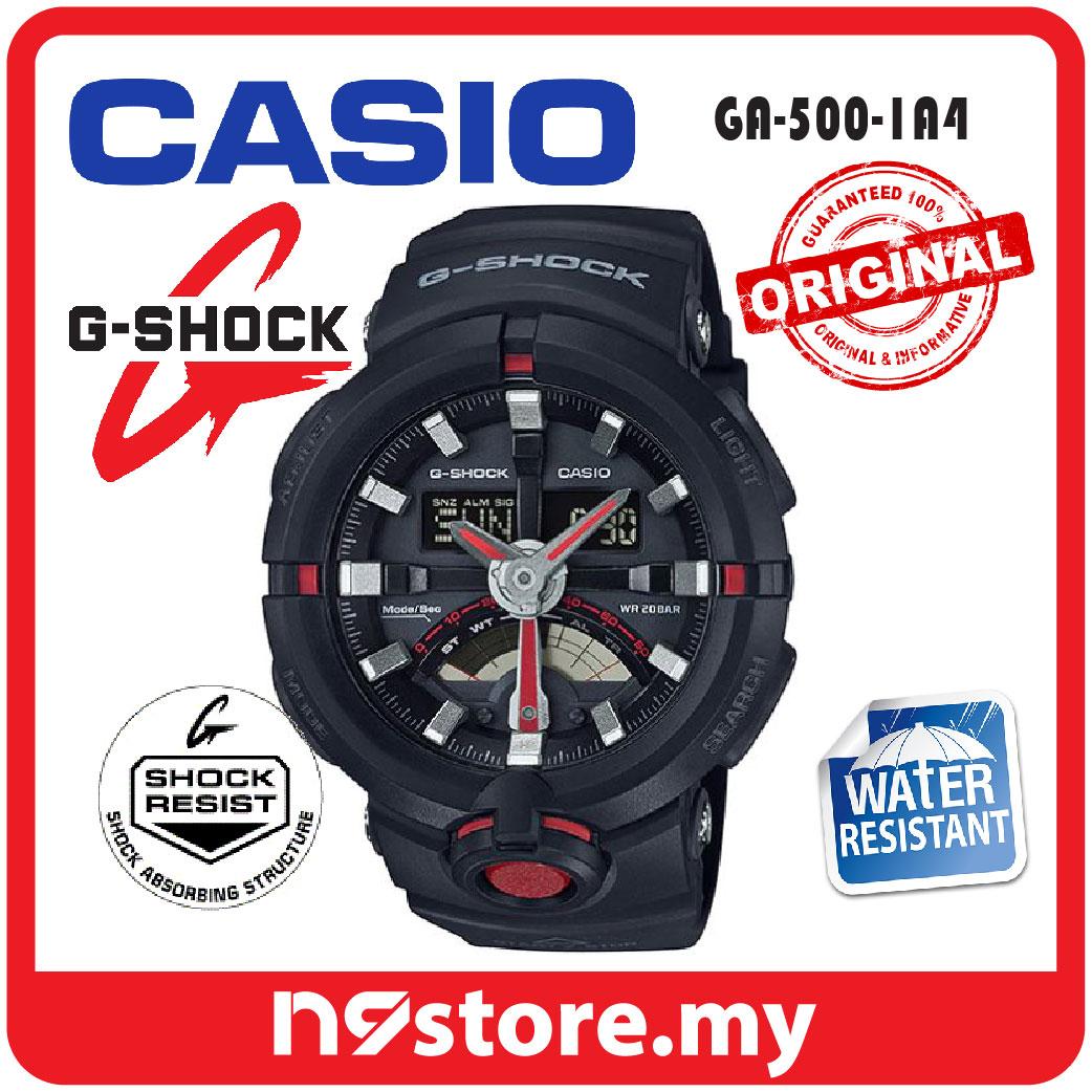 Casio G Shock Ga 500 1a4 Black Red Resin Sports Shock Resist Watch