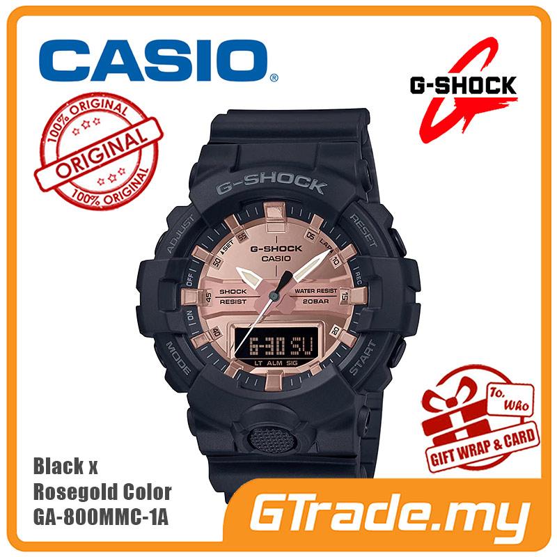 56c985124 CASIO G-Shock GA-800MMC-1A Digital Watch Black x Rosegold Color [