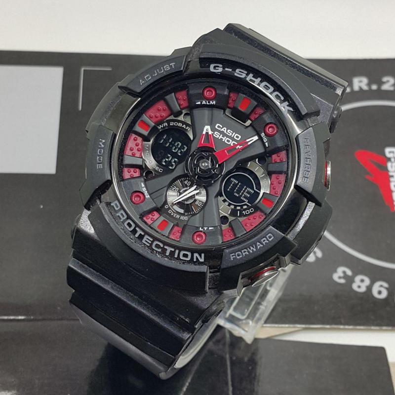 Casio G Shock Ga120 Collection Black Red