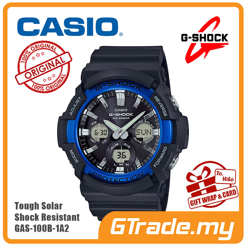 b88ecb8c65 CASIO G-Shock GAS-100B-1A2 Analog Digital Watch Tough Solar [PRE. ‹ ›