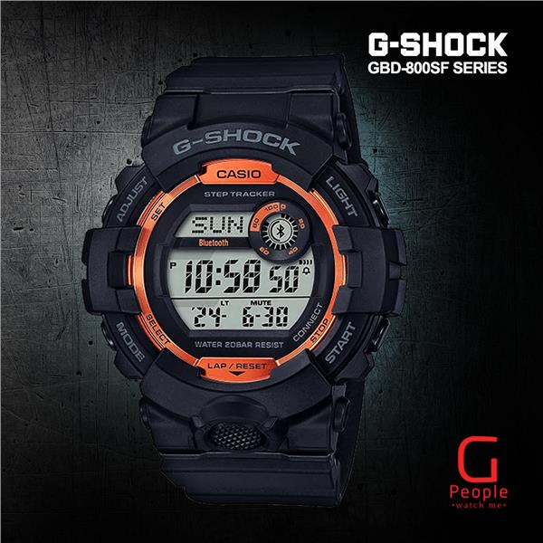 CASIO G-SHOCK GBD-800SF-1 BLUETOOTH WATCH 100% ORIGINAL