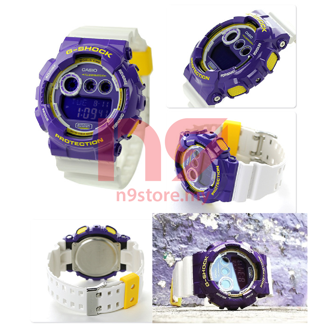 Casio G-Shock GD-120CS-6 Digital Purple White Crazy Color Sports Watch 83a3643e06