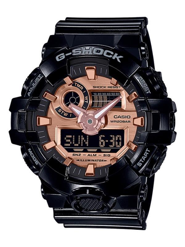 8c510d3ab Casio G-SHOCK Men Ana-Digit Black Rose Gold Sport Watch GA-700MMC. ‹ ›
