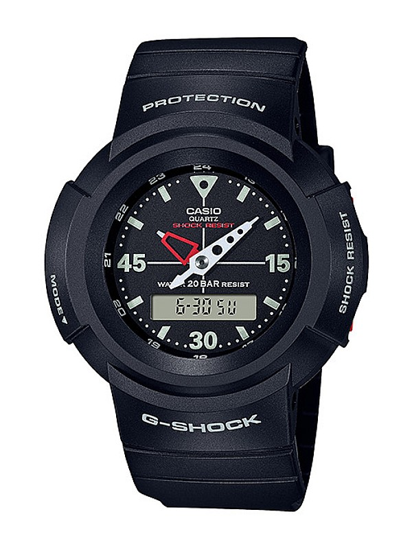 Casio G-SHOCK Men Black Analog Digital Sport Watch AW-500E-1EDR
