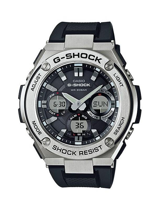 Casio G-SHOCK Men G-Steel Tough Solar Rubber Strap Watch GST-S110-1ADR