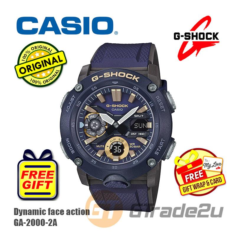 Casio G-Shock Men GA-2000-2A Analog Digital Watch [READY STOCK]