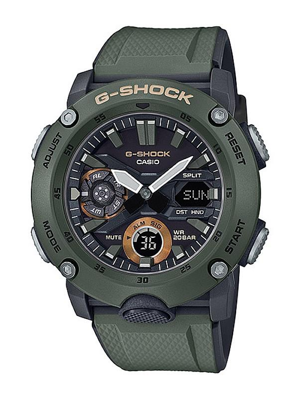 Casio G-SHOCK Men Illuminator Carbon Core Guard Watch GA-2000-3ADR