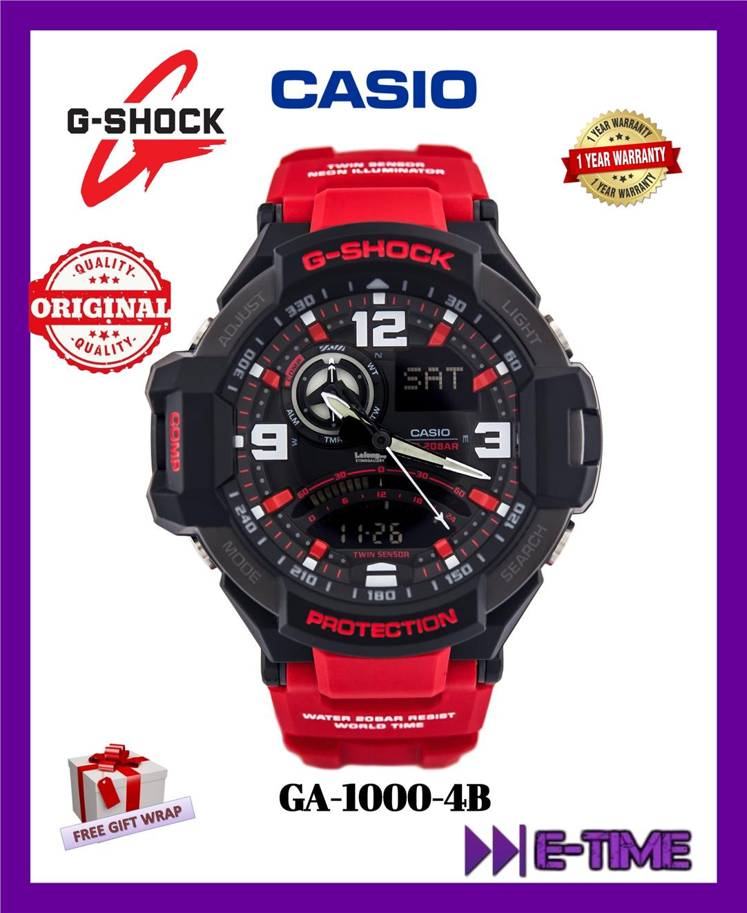 51474a9c5f9 CASIO G-SHOCK ORIGINAL GA-1000-4B GRA (end 1 8 2020 1 15 PM)