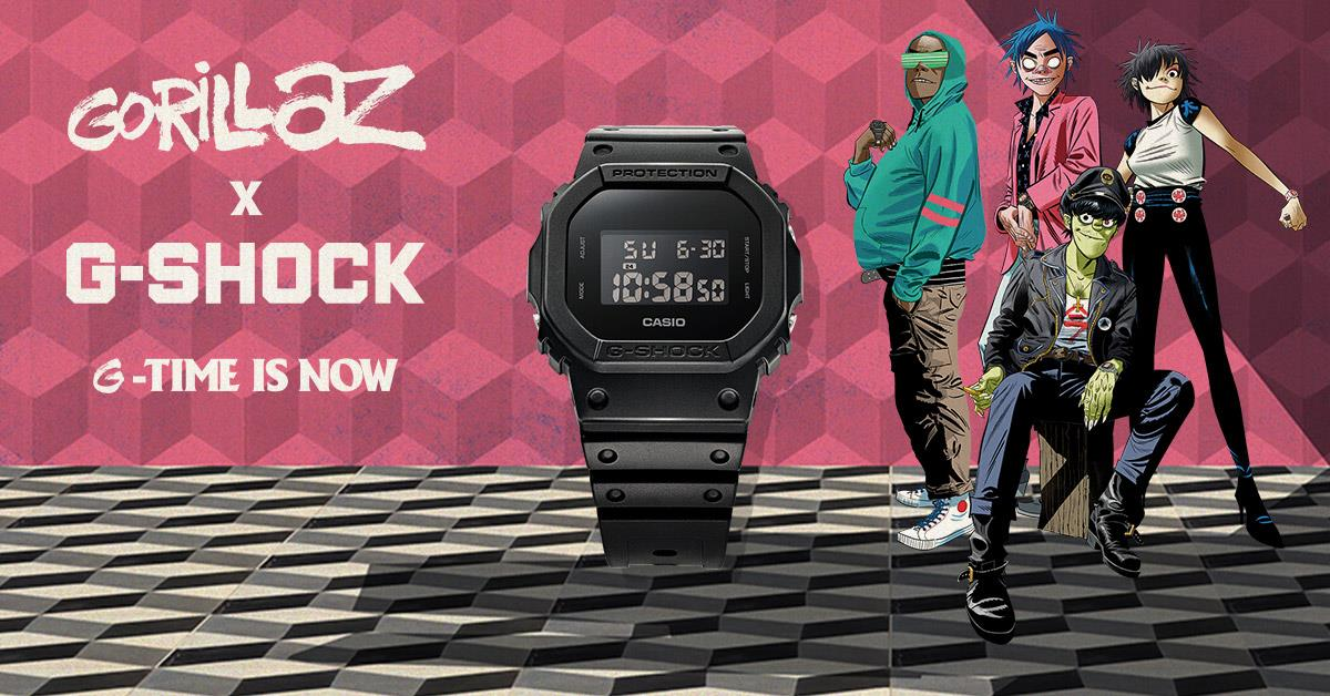 Casio G-Shock X Gorillaz Men 35th Anniversary Watch DW-5600BB-1DRGL