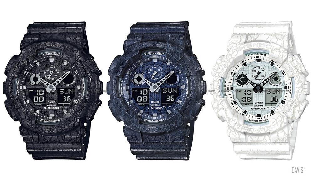 CASIO GA-100CG G-SHOCK ana-digi cracked pattern series resin strap SC