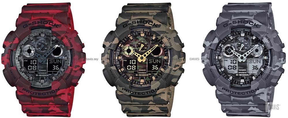 CASIO GA-100CM G-SHOCK ana-digi woods camouflage motif resin strap LE. ‹ › b4a32d3e93