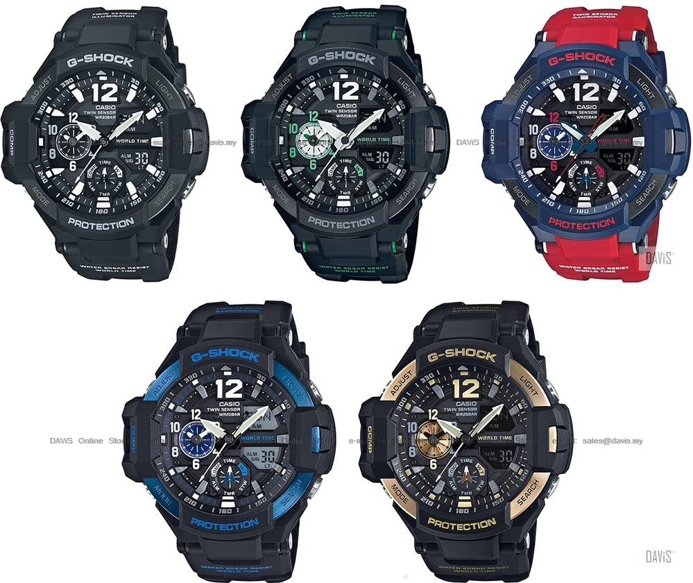dfbdbe49e9b1 CASIO GA-1100 G-SHOCK GRAVITYMASTER world time compass thermo resin