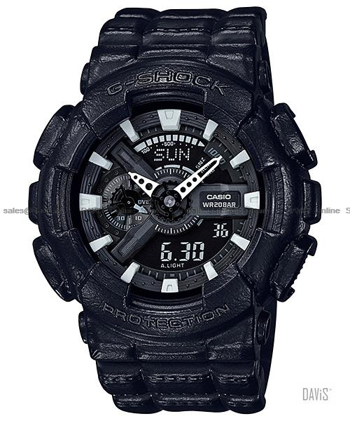 CASIO GA-110BT-1A G-SHOCK ana-digi leather texture resin strap black