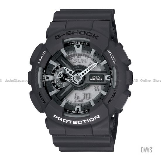 CASIO GA-110C-1A G-SHOCK Tough & Bold 3Dx Ana-Digi resin strap black