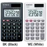 Casio Genuine Portable Type Calculator HS-8LV @ 8 Digits with Wallet C