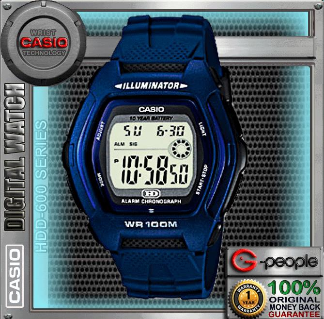 CASIO HDD-600C-2AV / HDD-600 100M WR WATCH ☑ORIGINAL☑