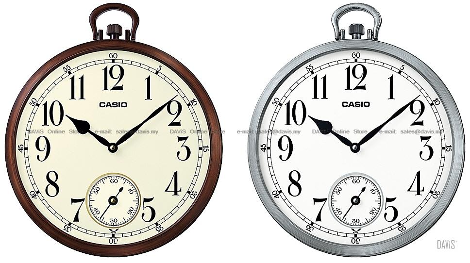 casio iq66 analogue wall clock pocket watch look small second
