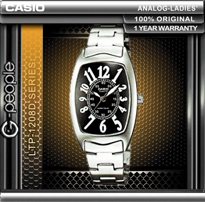 CASIO LTP-1208D-1B LADIES WATCH ☑ORIGINAL☑