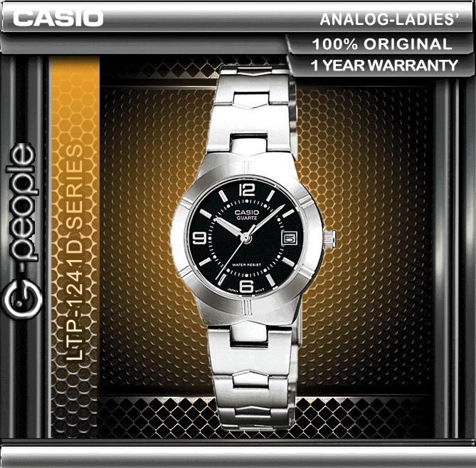 CASIO LTP-1241D-1A LADIES WATCH ☑ORIGINAL☑
