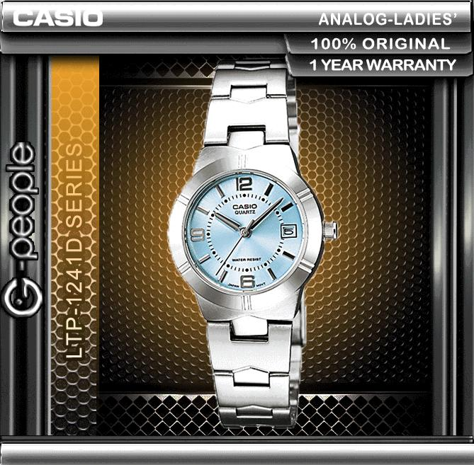 CASIO LTP-1241D-2A LADIES WATCH ☑ORIGINAL☑