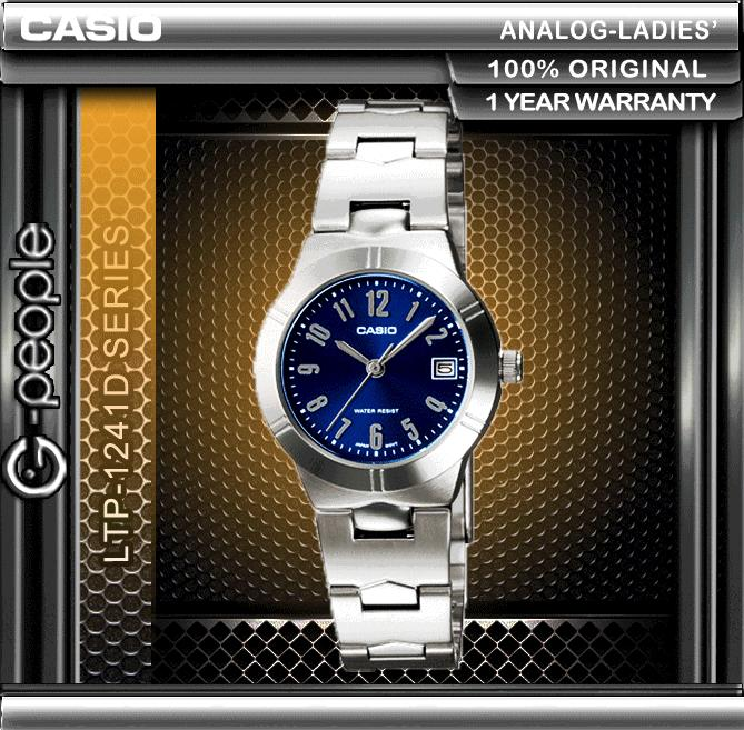 CASIO LTP-1241D-2A2 LADIES WATCH 100% ORIGINAL