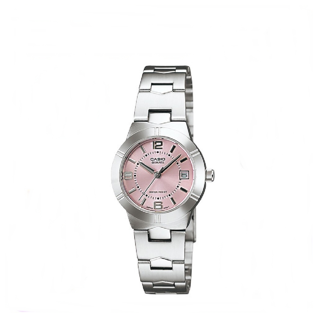 Casio LTP-1241D-4A Analog Calendar Women Watches Ladies Stainless Steel Watch