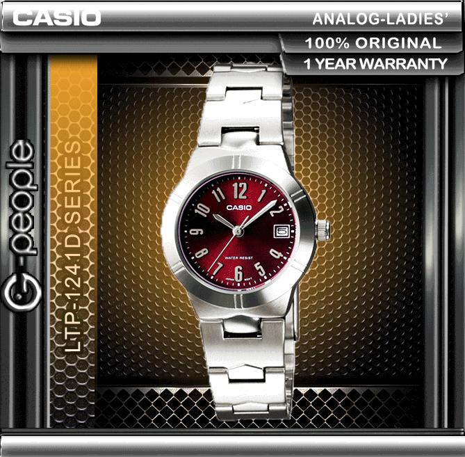 CASIO LTP-1241D-4A2 LADIES WATCH ☑ORIGINAL☑