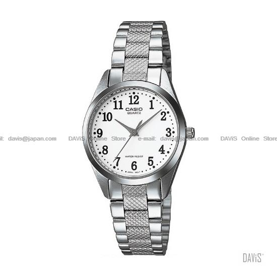 CASIO LTP-1274D-7B STANDARD His & Her SS bracelet white *Match*