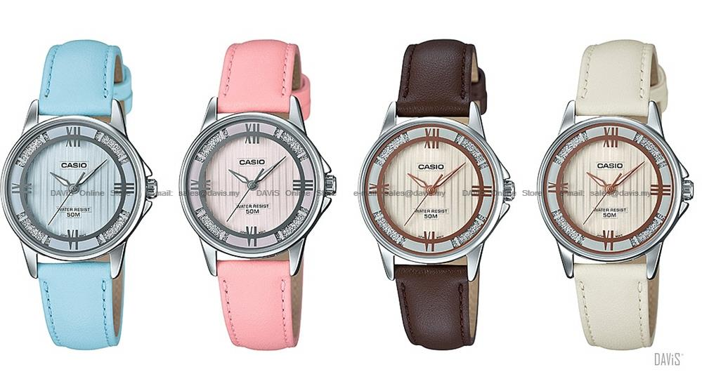 CASIO LTP-1391L STANDARD analog lame-sprinkled leather strap *Variants