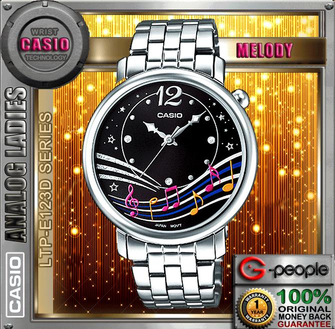 CASIO LTP-E123D-1A ANALOG LADIES WATCH☑ORIGINAL