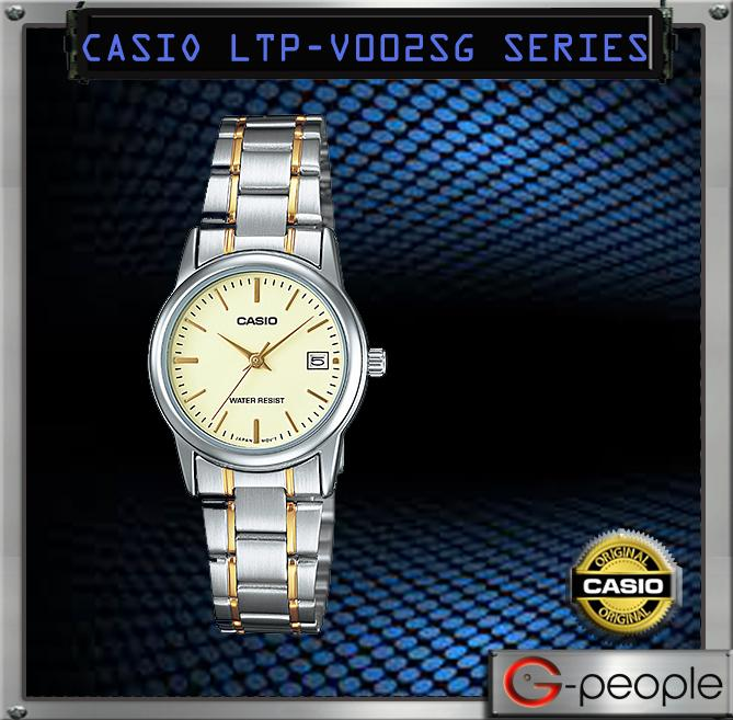 CASIO LTP-V002SG-9A LADY WITH DATE WATCH ☑ORIGINAL☑