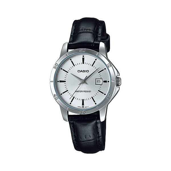 CASIO LTP-V004L-7AV Analog Ladies Watch | Leather Easy